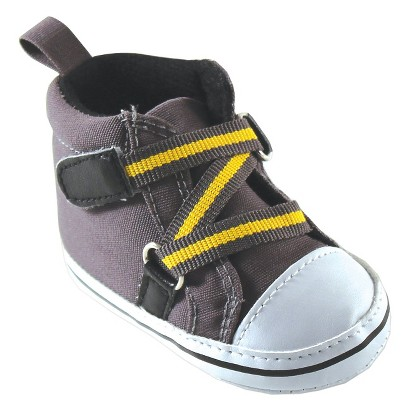 Luvable Friends™ Infant Boys' Zig Zag Hi-Top Sneaker - Gray