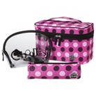 Caboodles 8 pc Bag Set - Clear/Pink Snowball