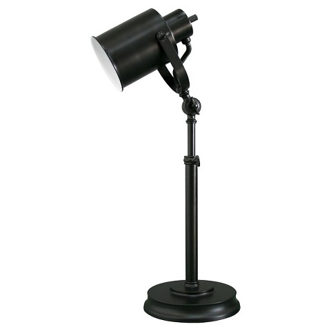 Threshold™ Black Studio Can Table Lamp (Includes CFL Bulb)