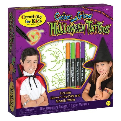 Image of Creativity for Kids Color & Glow Halloween Tattoos