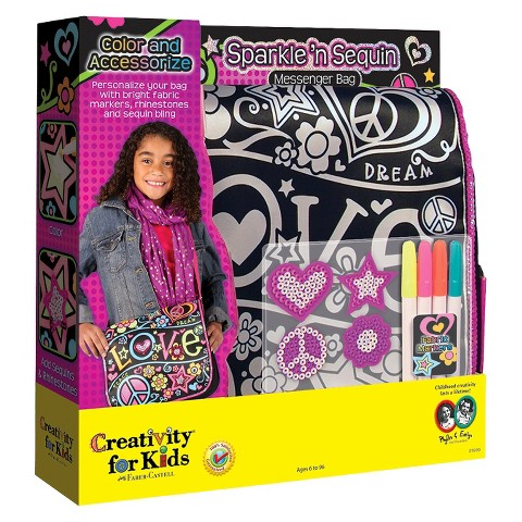 Creativity for Kids Sparkle 'n Sequin Messenger Bag
