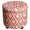 Threshold™ Round Tufted Storage Ottoman - Copper Ikat