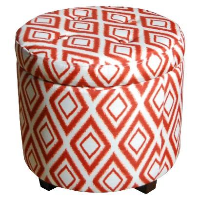 Threshold™ Round Tufted Storage Ottoman - Copper Ikat