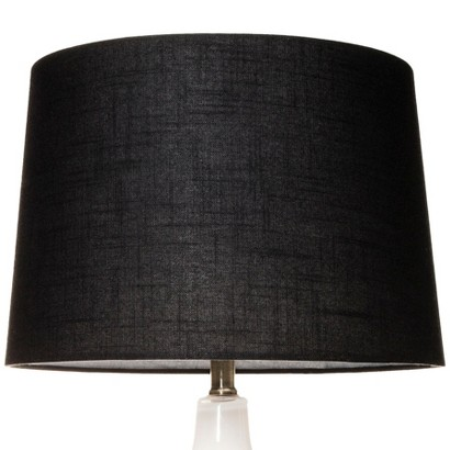 threshold drum lamp shade black forest large product details page. Black Bedroom Furniture Sets. Home Design Ideas