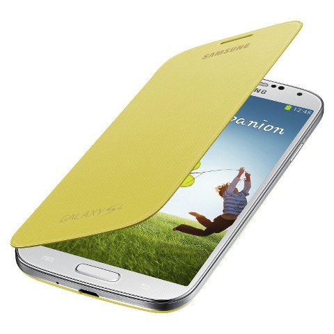 Samsung Cell Phone Case for Samsung Galaxy S4 - Yellow (EF-FI950BY)