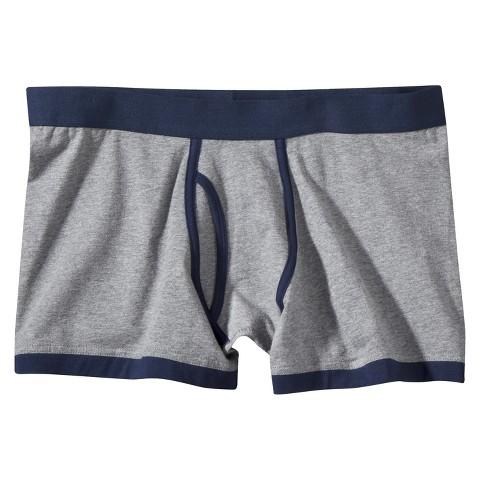 Mossimo Supply Co. Men's 1pk Boxer Briefs - Grey/Navy
