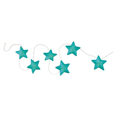 Room Essentials™ Paper Star String Lights - Teal