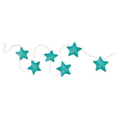 Room Essentials Paper Star String Lights - Teal