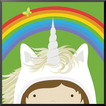 Art.com - Peek-a-Boo Heroes: Unicorn