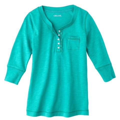 Cherokee®  Girls 3/4 Sleeve Shirt - Assorted