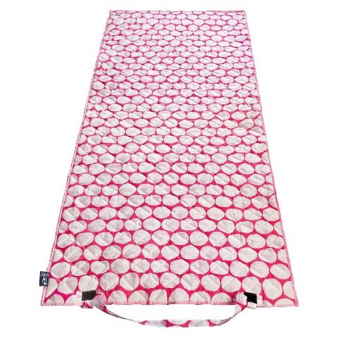 Wildkin Big Dot Beach Roll Up Mat - Pink\White