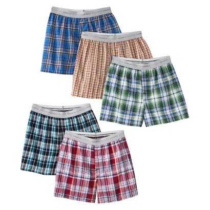 Hanes® Boys Woven Boxer Underwear 5-pack - Assorted Colors
