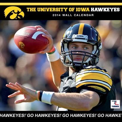 2014 Iowa Hawkeyes Wall Calendar