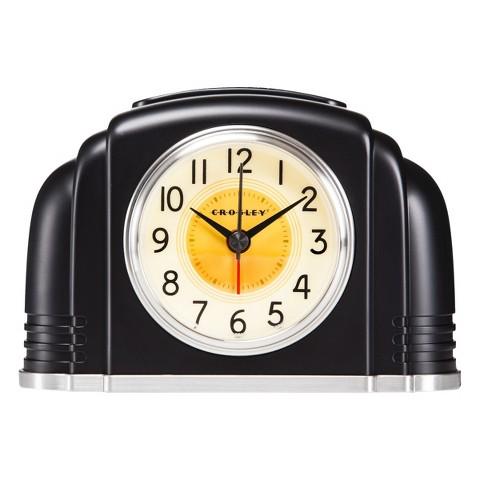 Crosley Bakelite Alarm Clock - Silver
