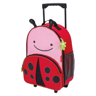 Skip Hop Zoo Little Kid & Toddler Rolling Luggage, Ladybug