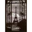 Art.com - Eiffel Tower Through Gates Framed Poster