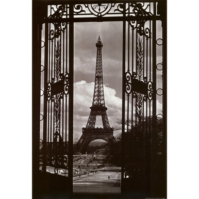Art.com - Eiffel Tower Through Gates