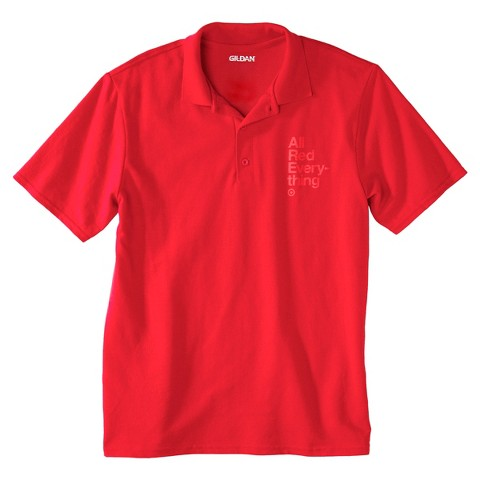 Men's All Red Everything DryBlend Pique Polo