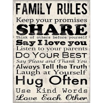 Art.com - Family Rules