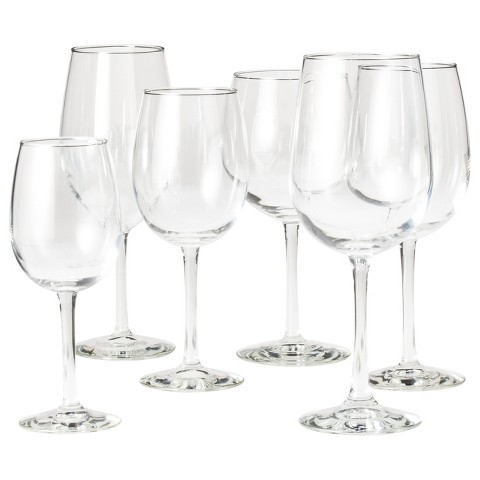 Libbey Wine Glass Set of 6 - Clear