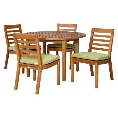 Smith & Hawken® Brooks Island 5-Piece Wood Round Dining Set