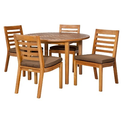 Smith & Hawken® Brooks Island 5-Piece Wood Round Dining Set