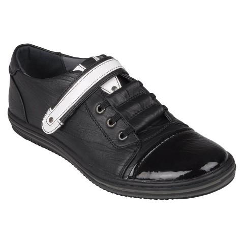Men's Boston Traveler Round Toe Slip-on Shoes - Black