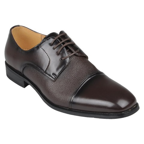Men's Boston Traveler Lace Up Dress Oxfords - Wine