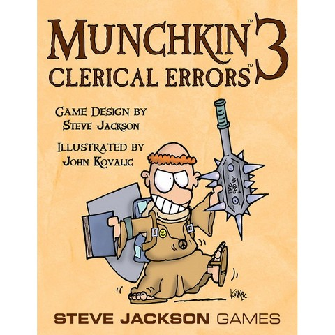 MUNCHKIN™ 3 Clerical Errors Steve Jackson Adventure Themed Game