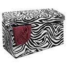 "Simplify 30"" Collapsible Storage Bench - Zebra Print"