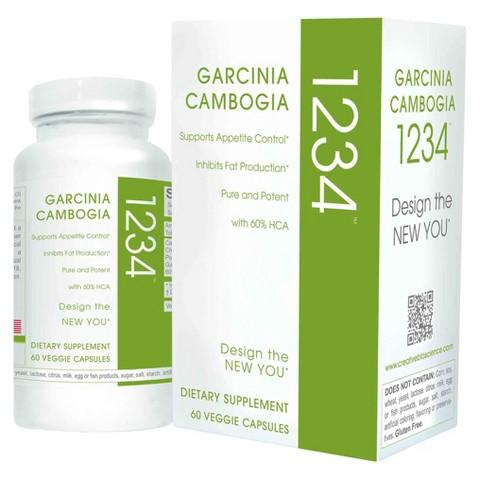Creative Bioscience Garcinia Cambogia 1234 Dietary Supplement - 60 Capsules