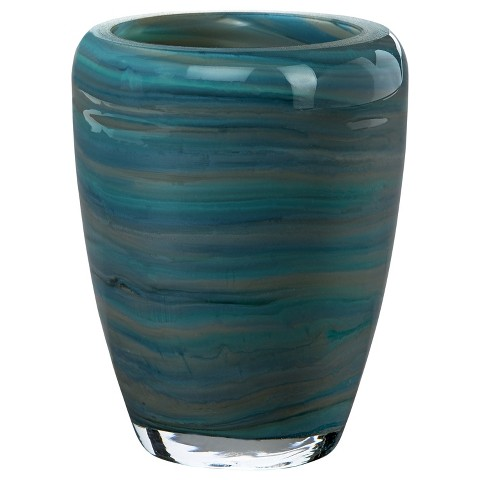Threshold™ Swirl Glass Bathroom Tumbler - Blue
