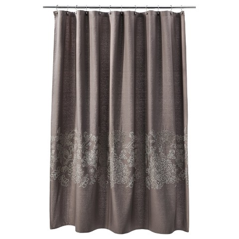 Threshold Floral Shower Curtain Brown Linen Target