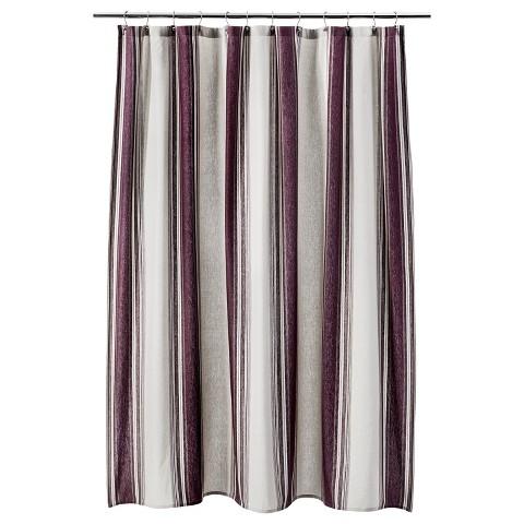 Threshold Flour Stripe Shower Curtain Red Target