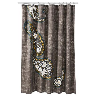 Threshold™ Paisley Shower Curtain - Gray Marble