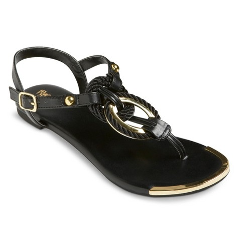 Women's  Braided Metallic Sandal