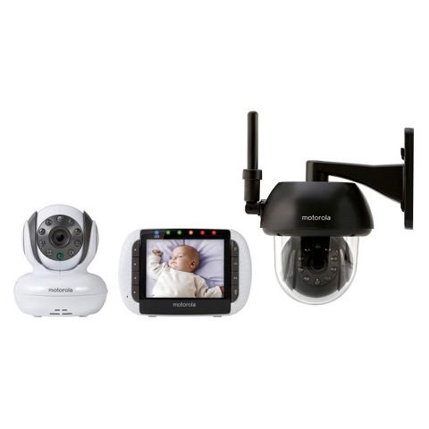 """Motorola 3.5"""" Video Baby Monitor with Indoor/Outdoor Camera - FOCUS360"""