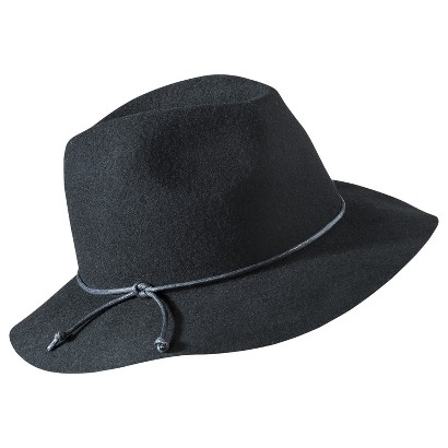 Mossimo Supply Co. Floppy Leather Tie  Hat - Black
