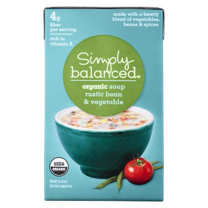 Simply Balanced Organic Rustic Bean and Vegetable Soup 17.3 oz