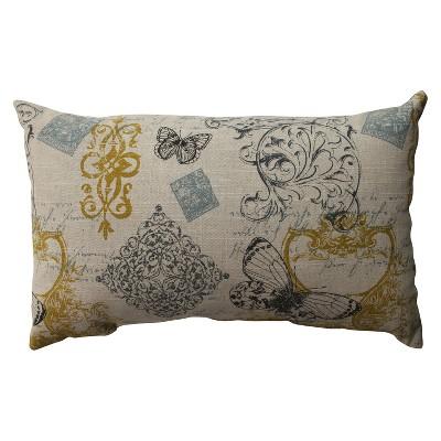 """Butterfly Lumbar Toss Pillow (11.5x18.5"""")"""