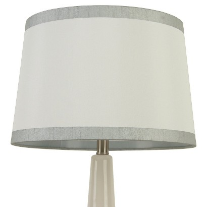 Threshold™ Linen with Silver Trim Lamp Shade