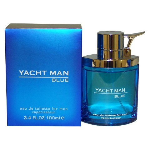 Men's Yacht Man Blue by Myrurgia Eau de Toilette Spray - 3.4 oz