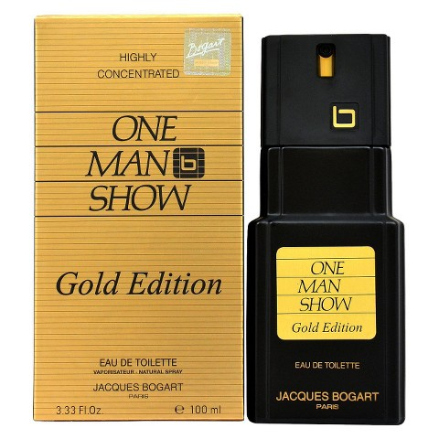 Men's One Man Show by Jacques Bogart Eau de Toilette Spray (Gold Edition) - 3.33 oz