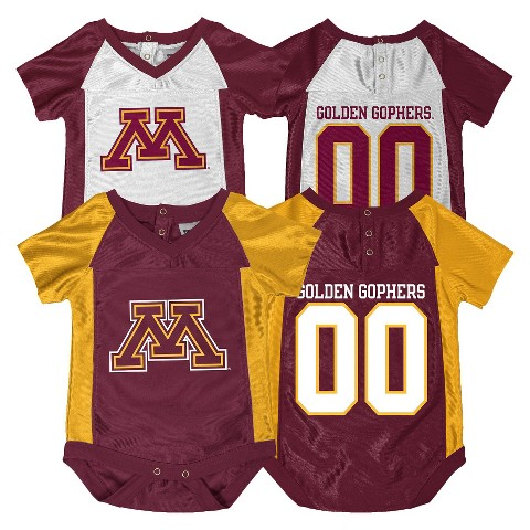 NCAA Minnesota Gophers Newborn Bodysuit 2-pc. Maroon