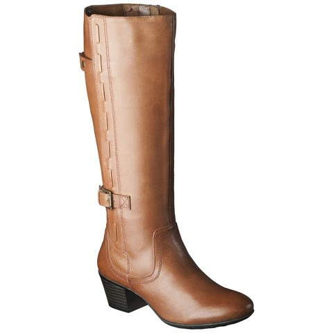Women's Merona® Janie Genuine Leather Tall Boot - Assorted Colors