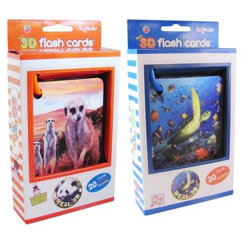 Smart Real 3D Flashcards Set-Zoo and Ocean