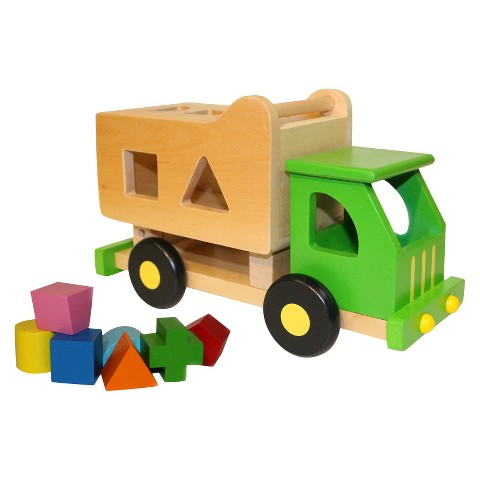 Discoveroo Wooden Sort and Tip Garbage Truck