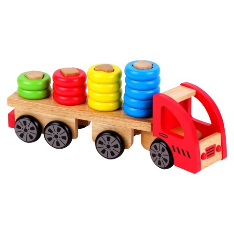 Discoveroo Wooden Sort and Stack Truck