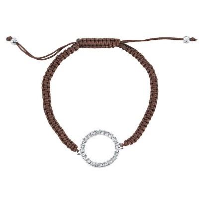 Silver Plated Crystal Wrap Bracelet - Black
