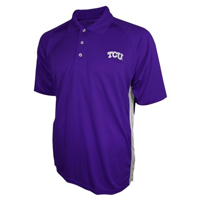 TCU Horned Frogs Mens 3 Button Polo Purple S
